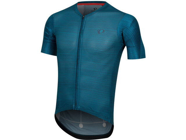 PEARL iZUMi P.R.O. Mesh Maillot de cyclisme Homme, teal/ navy stripe